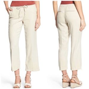 NYDJ Jamie Relax Ankle Linen Pants Size 0